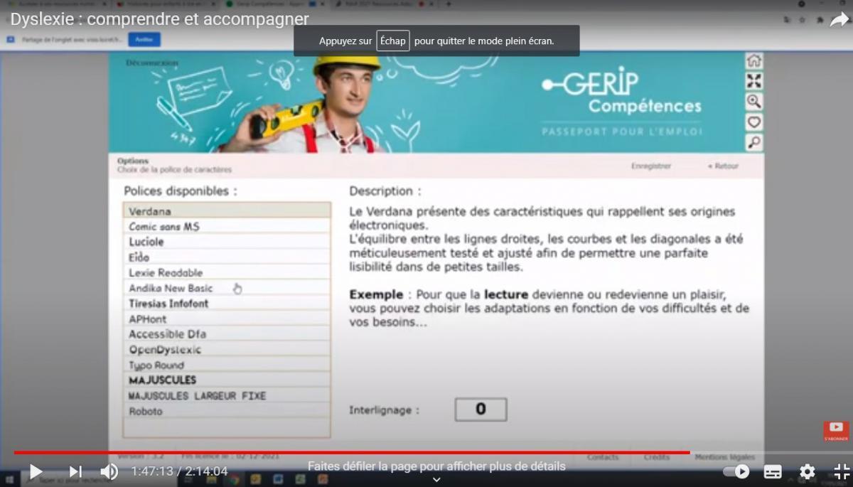 La ressources numériques GERIP