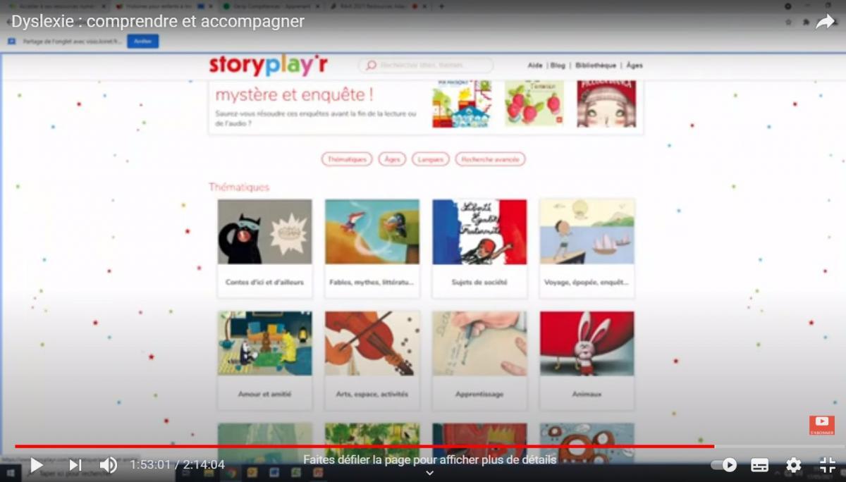 La ressources numériques StoryPlay'r